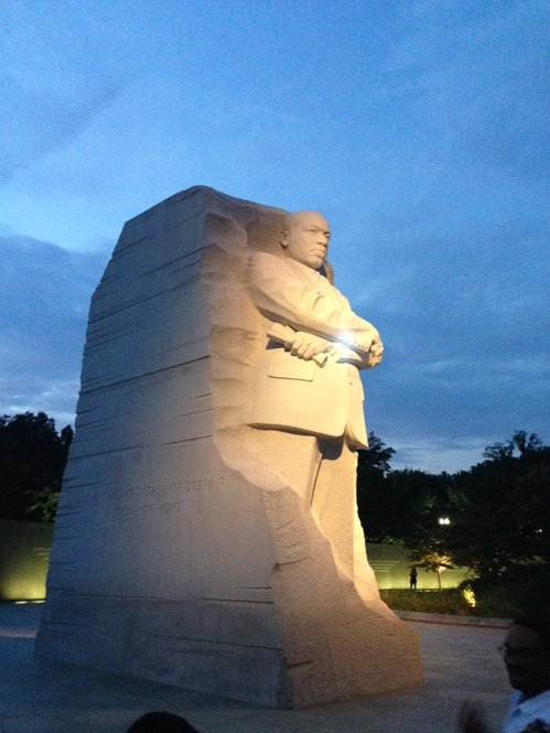 MLK Monument @BRInstitute #FF2016 monuments tour! https://t.co/Pq927avTtn
