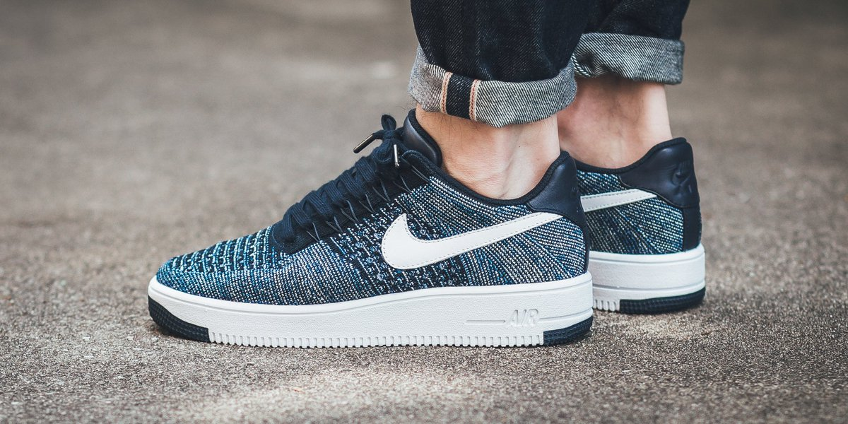 Nike Air Force 1 Flyknit dorato