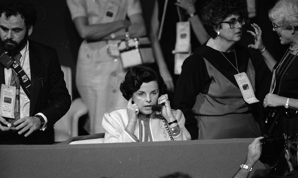 Dianne Feinstein (S.F.'s first female mayor) at the 1984 Democratic Convention. : Frederic Larson/The Chronicle