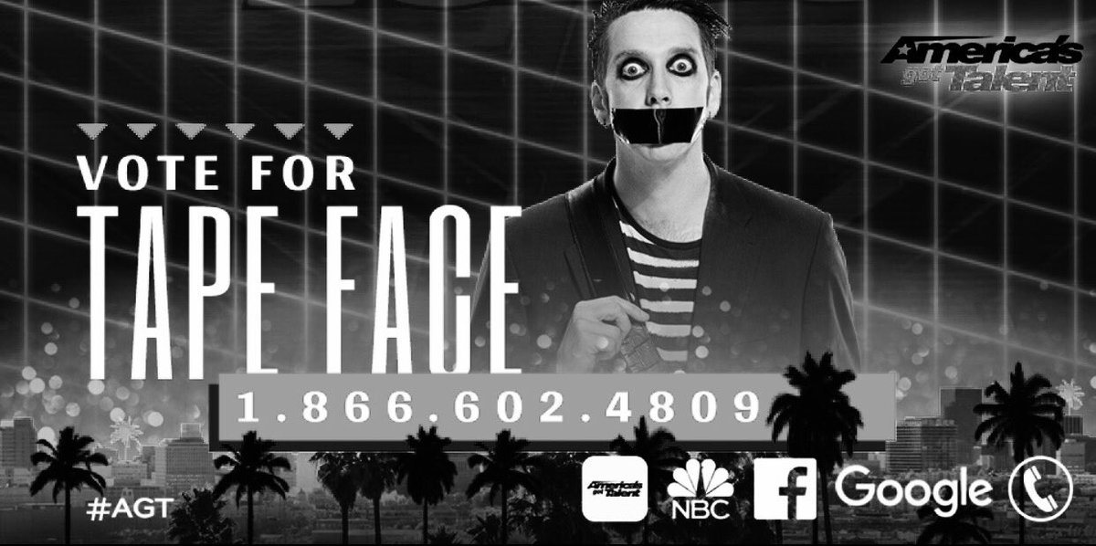 And this is what I need you to do. #tapeface #AGT #silentones #<| https://t.co/ieMmOMoV6m