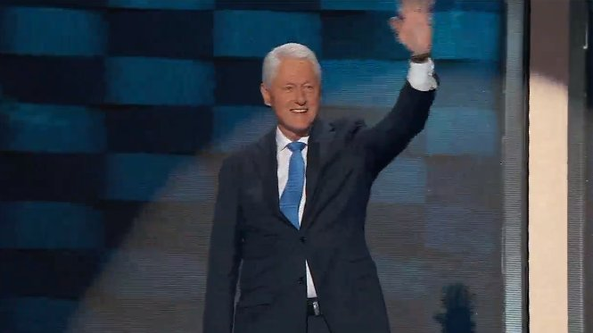 Bill Clinton speaking now at Democratic National Convention.WATCH LIVE >>
