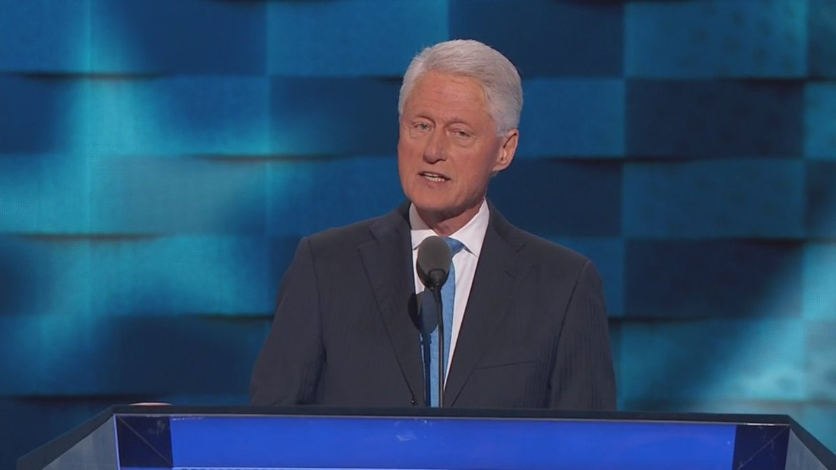 'In the spring of 1971, I met a girl...' Former president Bill Clinton speaks on behalf of wife, @HillaryClinton
