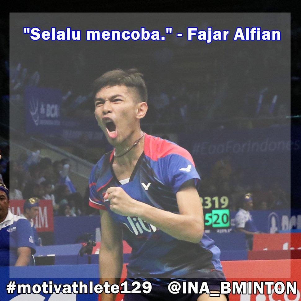 "Indonesia Badminton on Twitter "" motivathlete dari Fajar Alfian"
