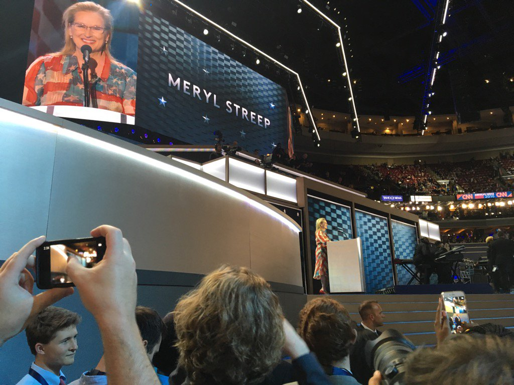 """What does it take to be the first female anything"" #MerylStreep #DNCinPHL https://t.co/8kwuOs72M2"