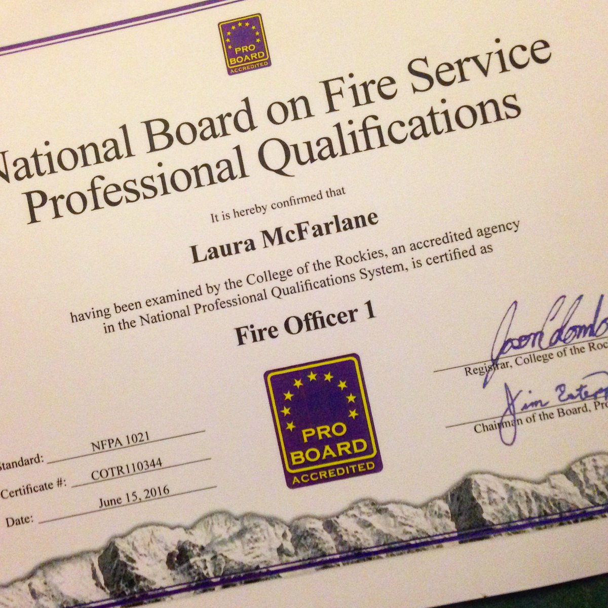 Laura Mcfarlane On Twitter All That Homework Paid Off Nfpa1021