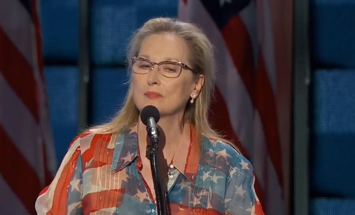 Actress Meryl Streep speaking now at DNC