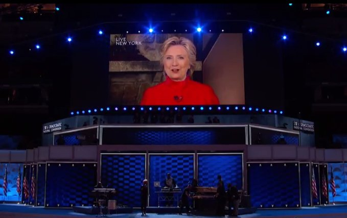 Hillary Clinton appears via video at DemsinPhilly. Watch