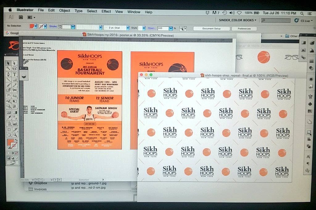 Working on some print designs for #SikhHoops. pic.twitter.com/r09AZdUDzy