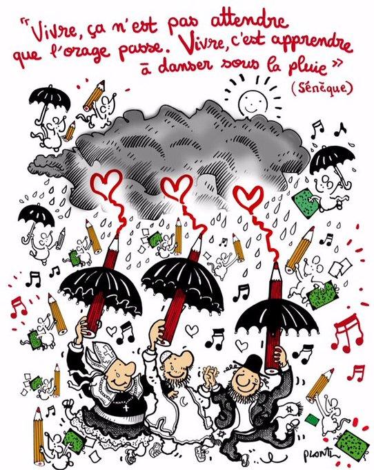 Vivre c'est apprendre à danser sous la pluie.