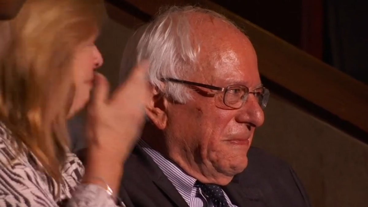 Bernie Sanders holds back tears as his older brother says parents would be