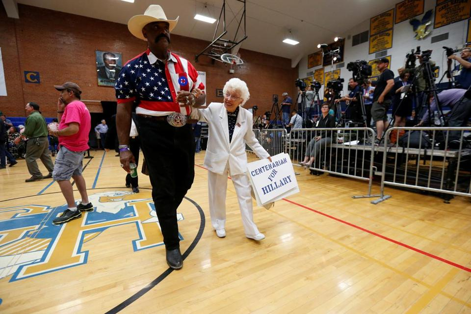 102-year-old Arizona delegate says she was thrilled to support Clinton at DNC DemsinPhilly