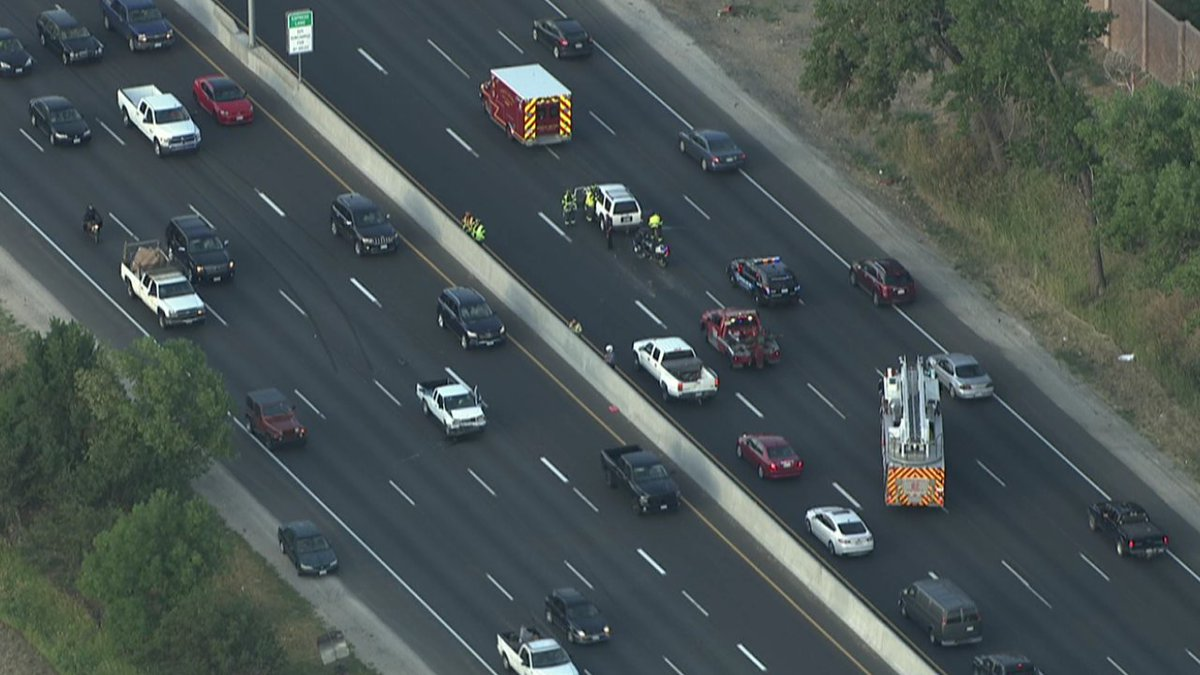Hit and run... that is what this is SB I25 near the thornton PKWY@Gooddayco cotraffic