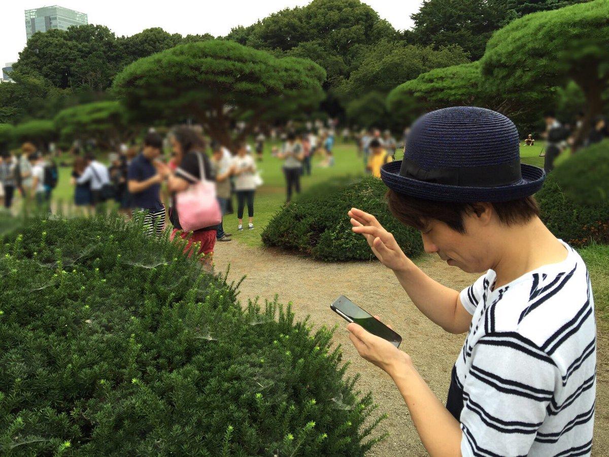 噂通り新宿御苑にピカチュウいたw pic.twitter.com/iomyTVj8pG