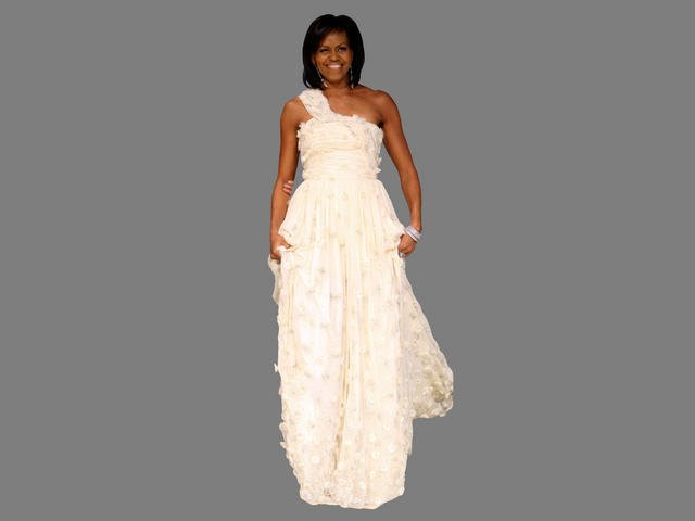 Check out a display of First Lady dresses at