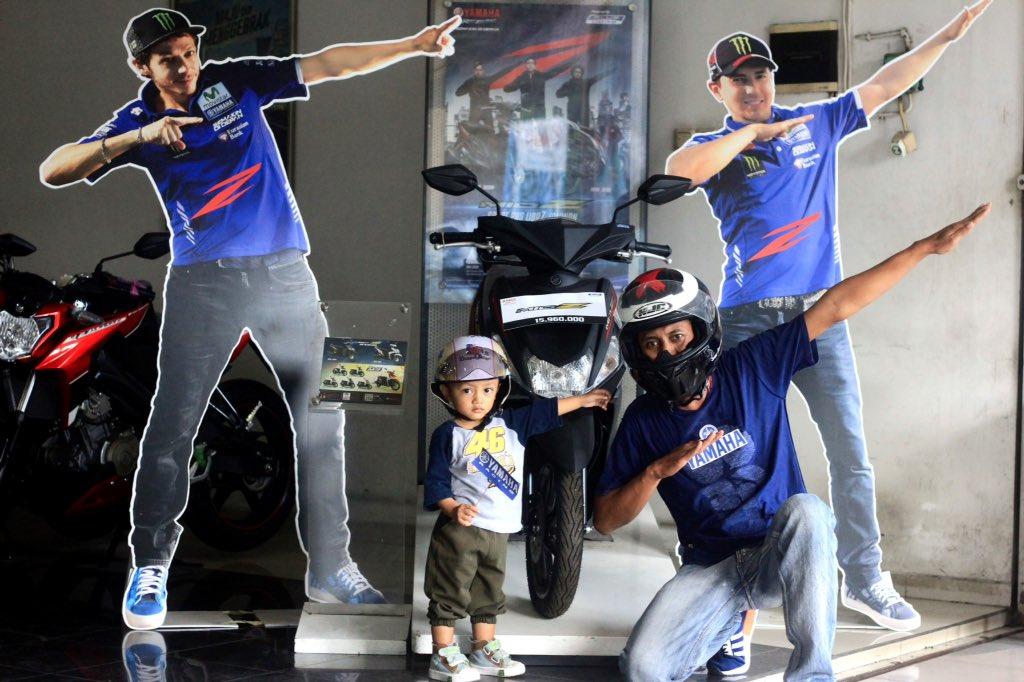"""""""Papa itu motor keren banget,itu adalah Mio Z""""Dedi Purnomo #ZagoanSelfie #SumberBaruRejeki #Sragen @YamahaIndonesia"""