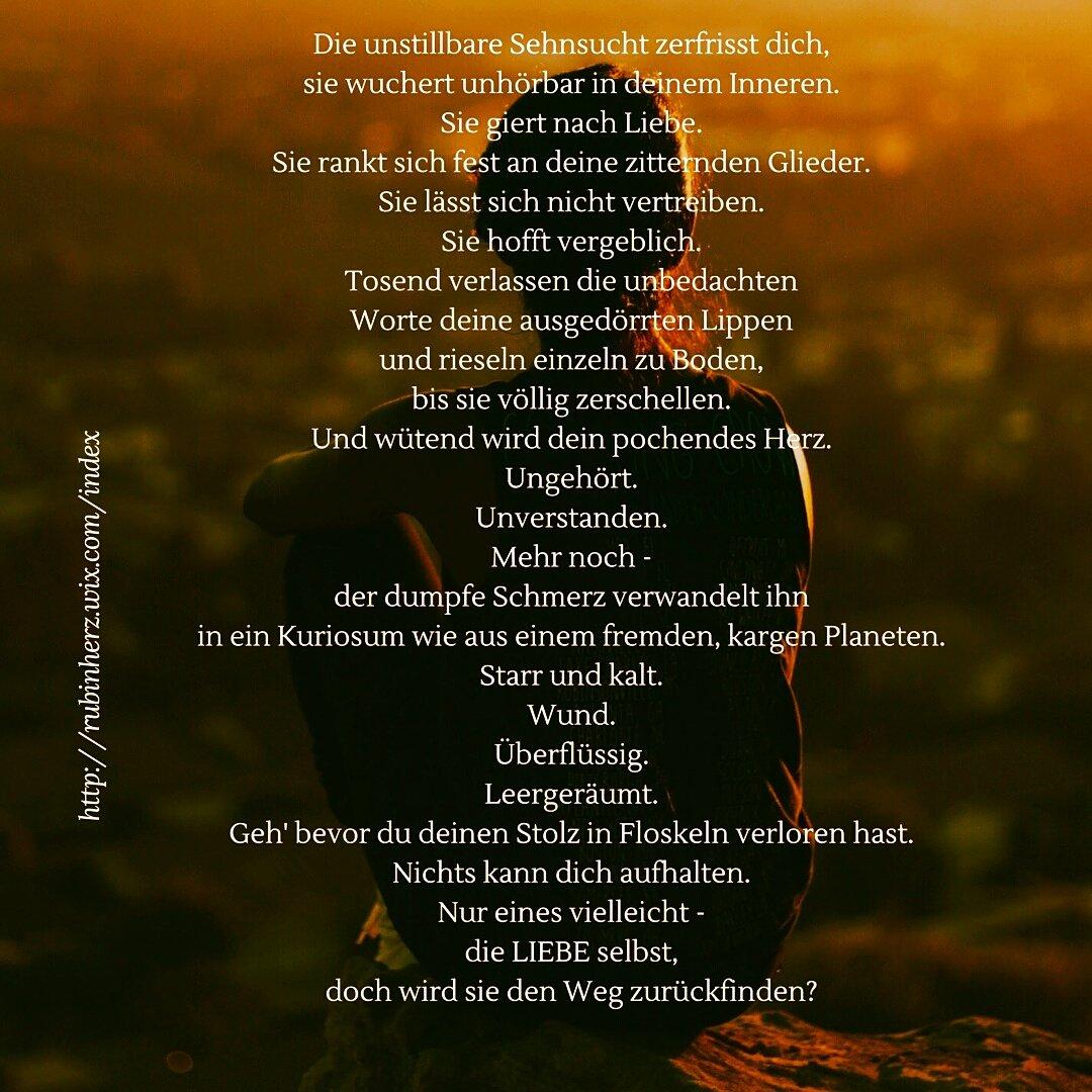 Gedichte Schmerz Liebeskummer