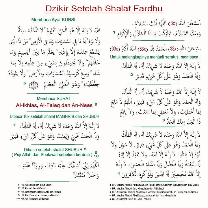 Nasehat Indah Islam On Twitter Dzikir Setelah Sholat Fardhu