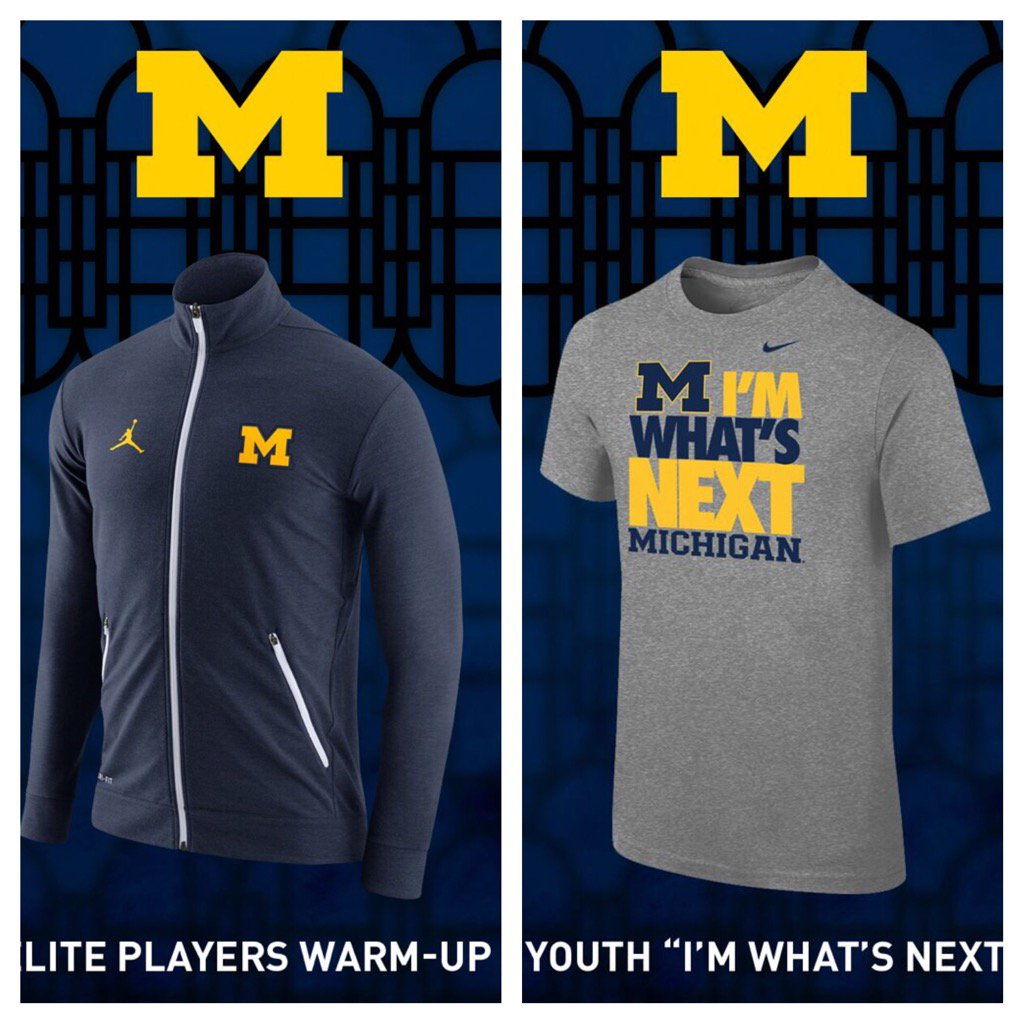 A few more Michigan/Nike items that will be available at @TheMDen