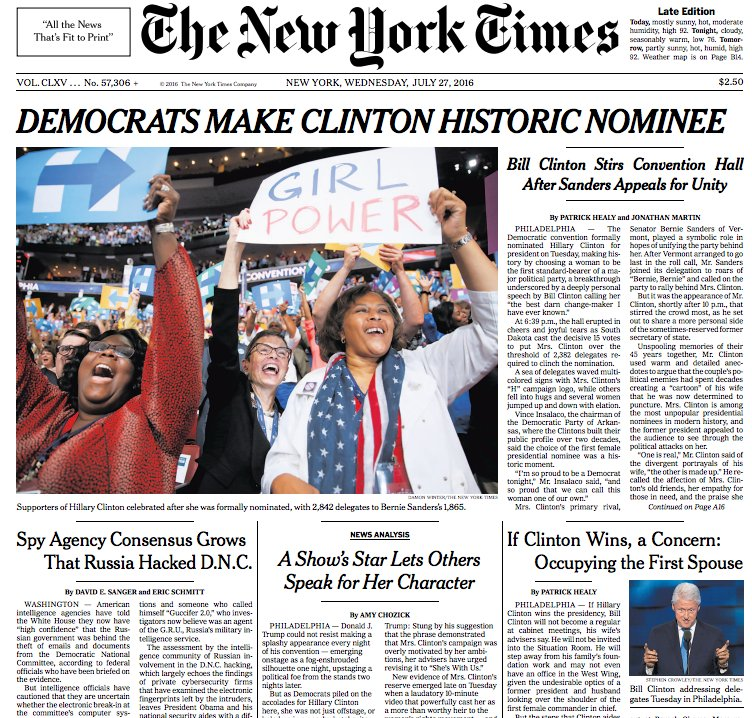 "Francois Illas New Tradition: The New York Times On Twitter: ""The Top Of The Front Page"