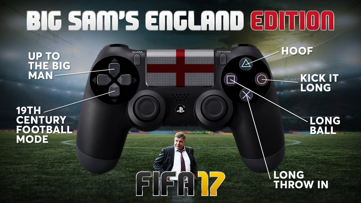 New FIFA 17 game revealed: the Sam Allardyce edition.