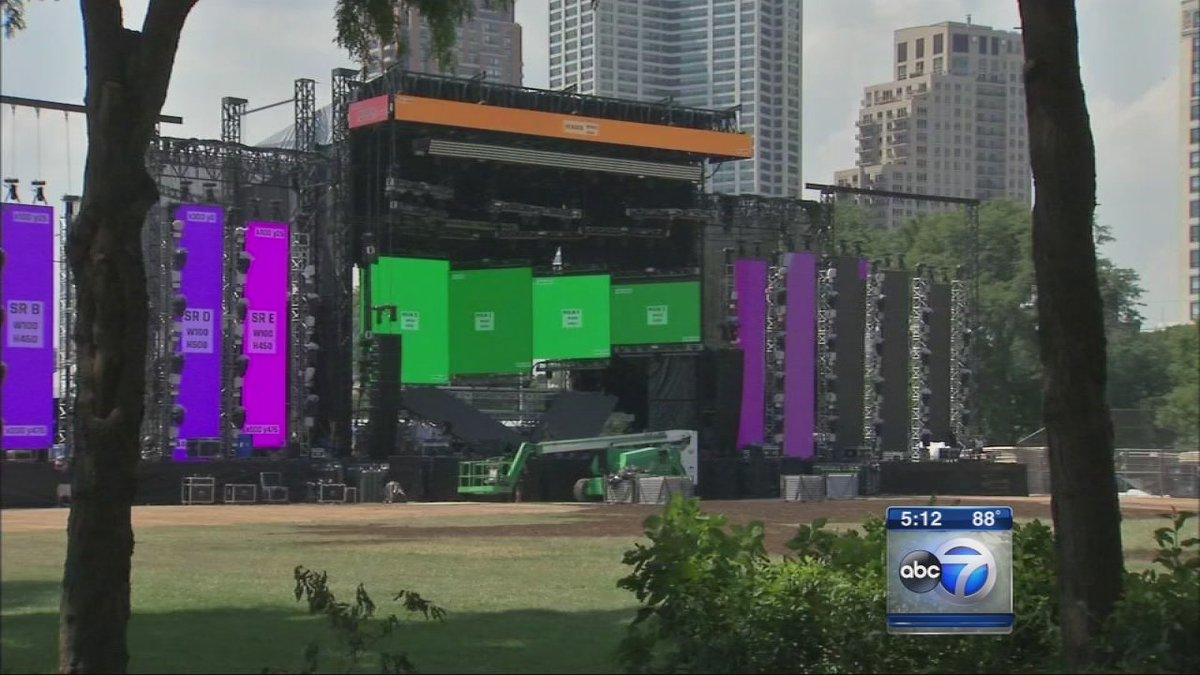 Final preparations under way for Lollapalooza, which kicks off tomorrow