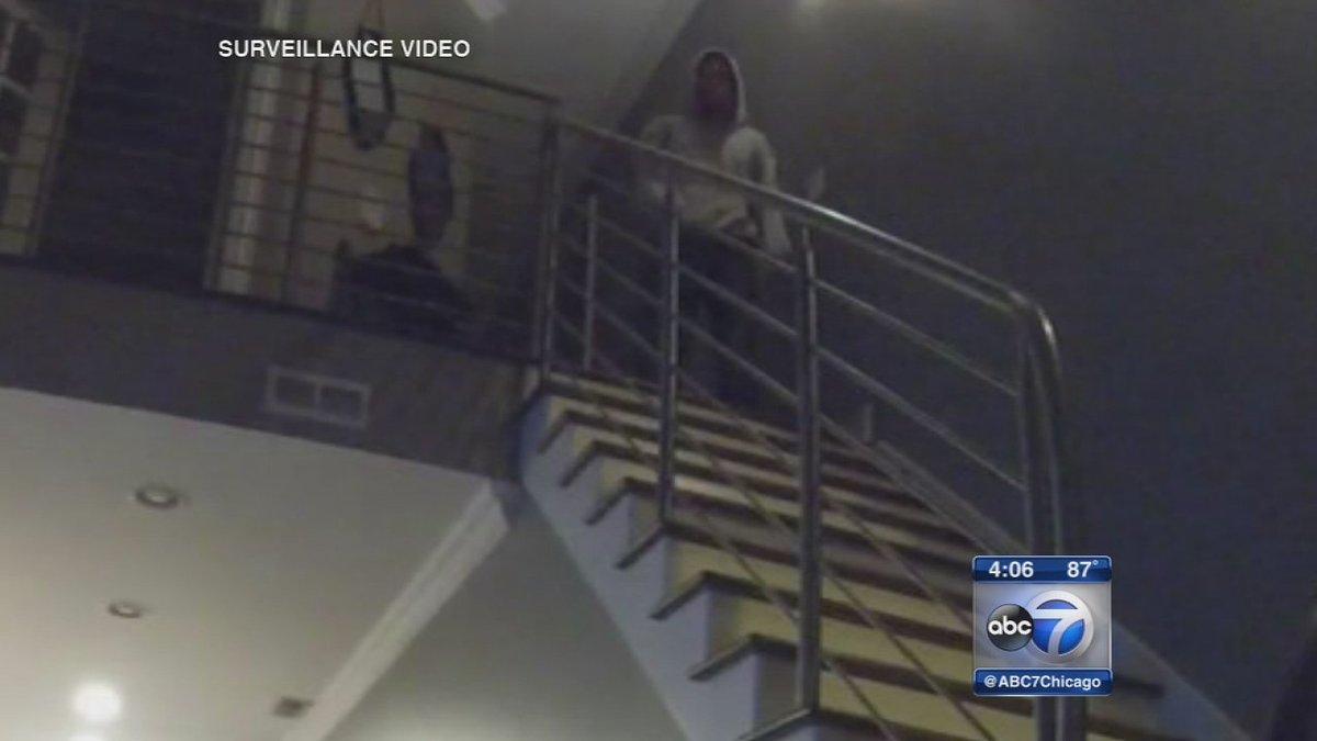 Surveillance video shows intruder watching Bucktown couple sleep