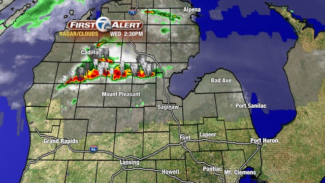 Line of strong storms drifting SE. Will be watching near & north of M-59 this evening for these storms. backchannel