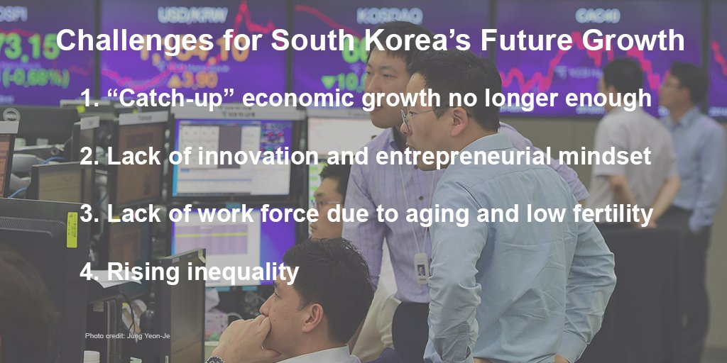 .@FSIStanford SK Fellow Yong Suk Lee discussed the challenges to S. Korea's future economic growth at #HanaStanford. https://t.co/5dChqDfpBL
