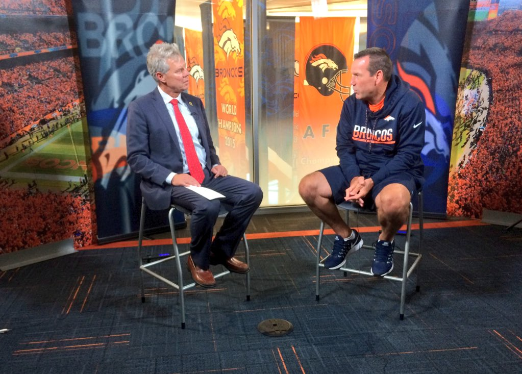 Gary Kubiak told @MikeKlis that he had a good break and even became a grandpa. 9News