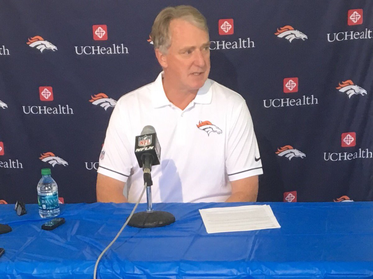 No update on the stadium naming issue, according to Broncos CEO Joe Ellis. Says a new name
