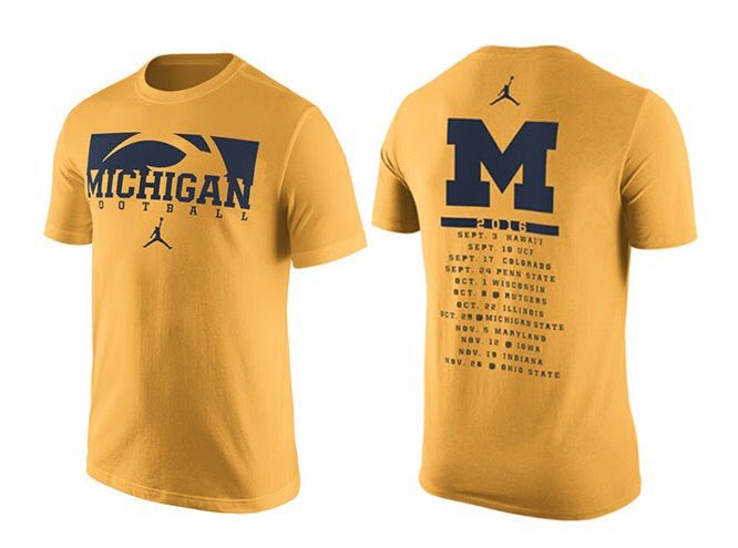 Michigan's new student section shirt revealed in email (via @_ZachShaw)