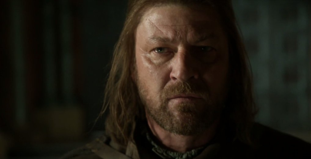 Ned's face says it all. He's uneasy, and haunted. This is such a terrible place for him, filled with pain and blood. https://t.co/3WaJn5mJas