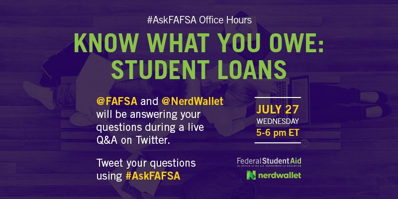 Thumbnail for July 2016 #AskFAFSA Office Hours: Know What You Owe