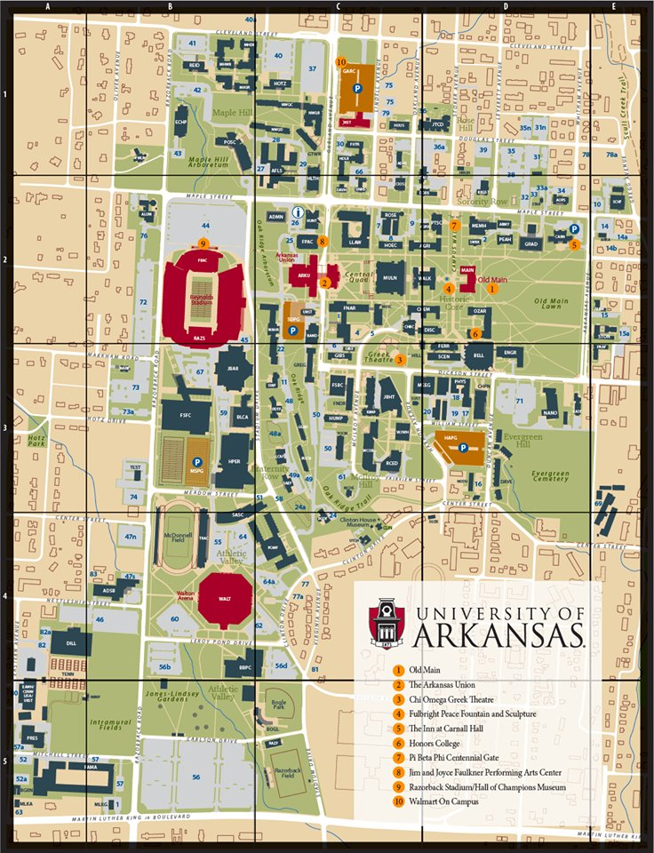 Campus Maps Uark Campus Publishers on Twitter: