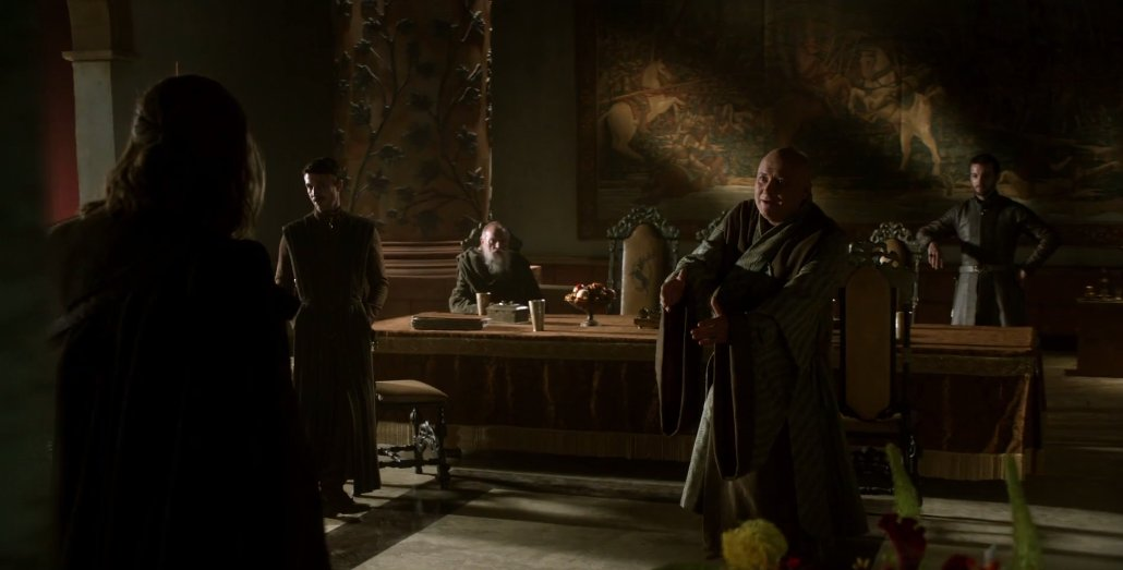 The Small Council consists of Petyr Baelish aka Little Finger, Maester Pycelle, Renly Baratheon, and Varys. https://t.co/SNLRsawU9a