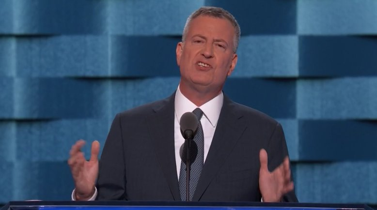 Mayor de Blasio calls Donald Trump