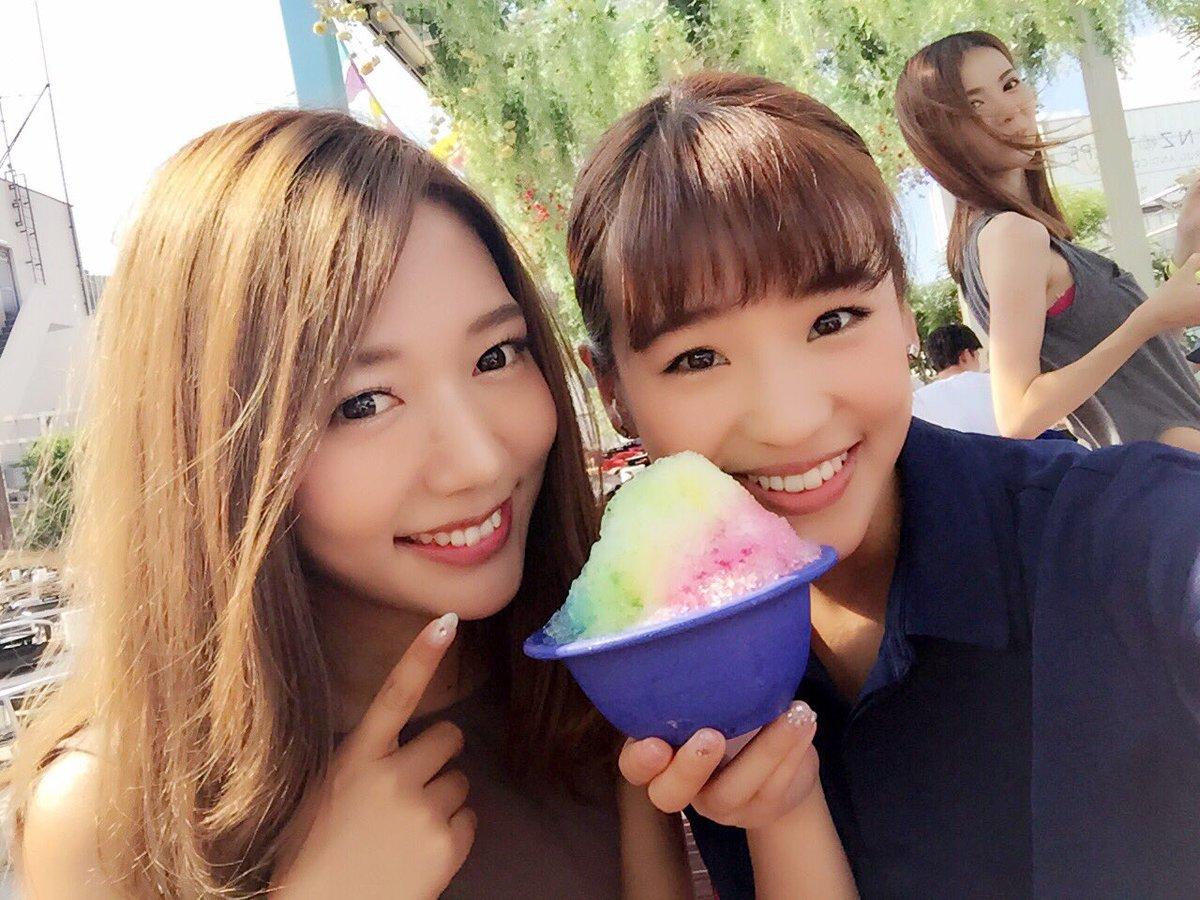 """Haruka Nakagawa: Haruka Nakagawa 仲川遥香 On Twitter: """"カキ氷たべた😋💓 暑かったけど夏って感じでした"""