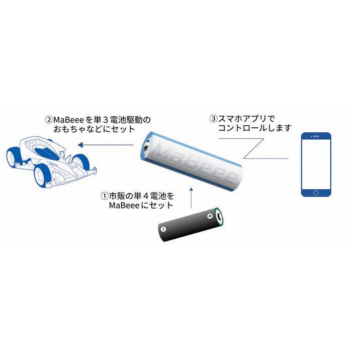 """おもちゃ、自分で作った工作、電動歯ブラシなど、乾電池で動く製品を スマホでコントロールできるようになる乾電池型IoT製品 「MB-3002WB (スマホと繋がる乾電池型IoT""""MaBeee"""")」本日発売です。 #上海問屋 #秋葉原"""