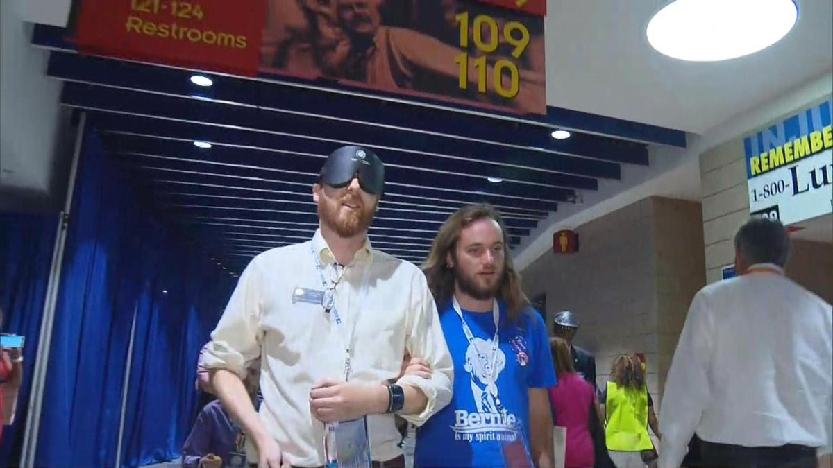Colorado Delegate Attends DNC With Blindfold For Unique Protest