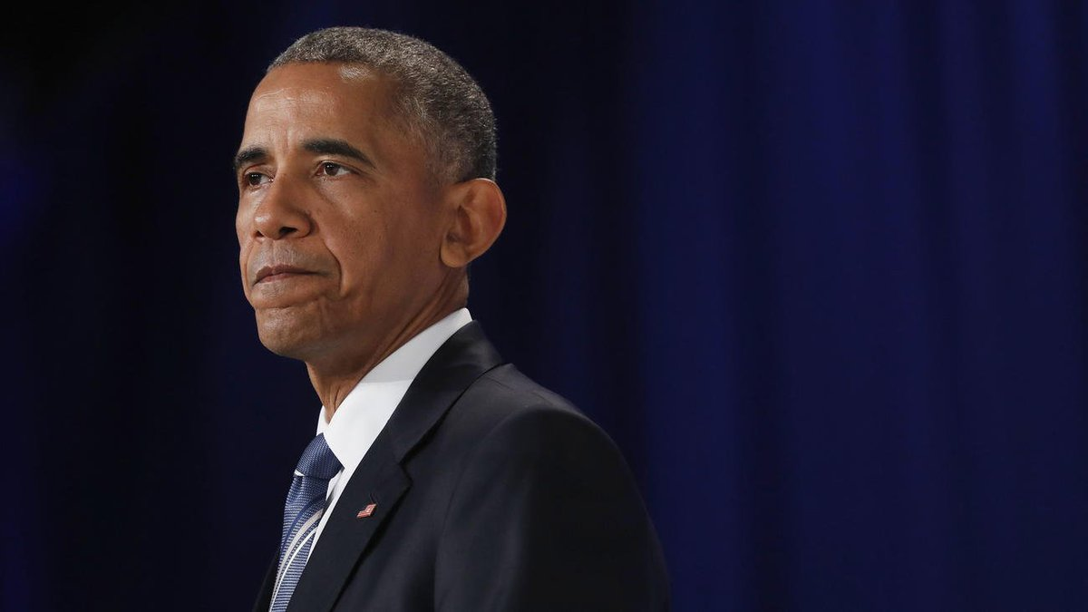 as President Obama speaks at the Democratic National Convention