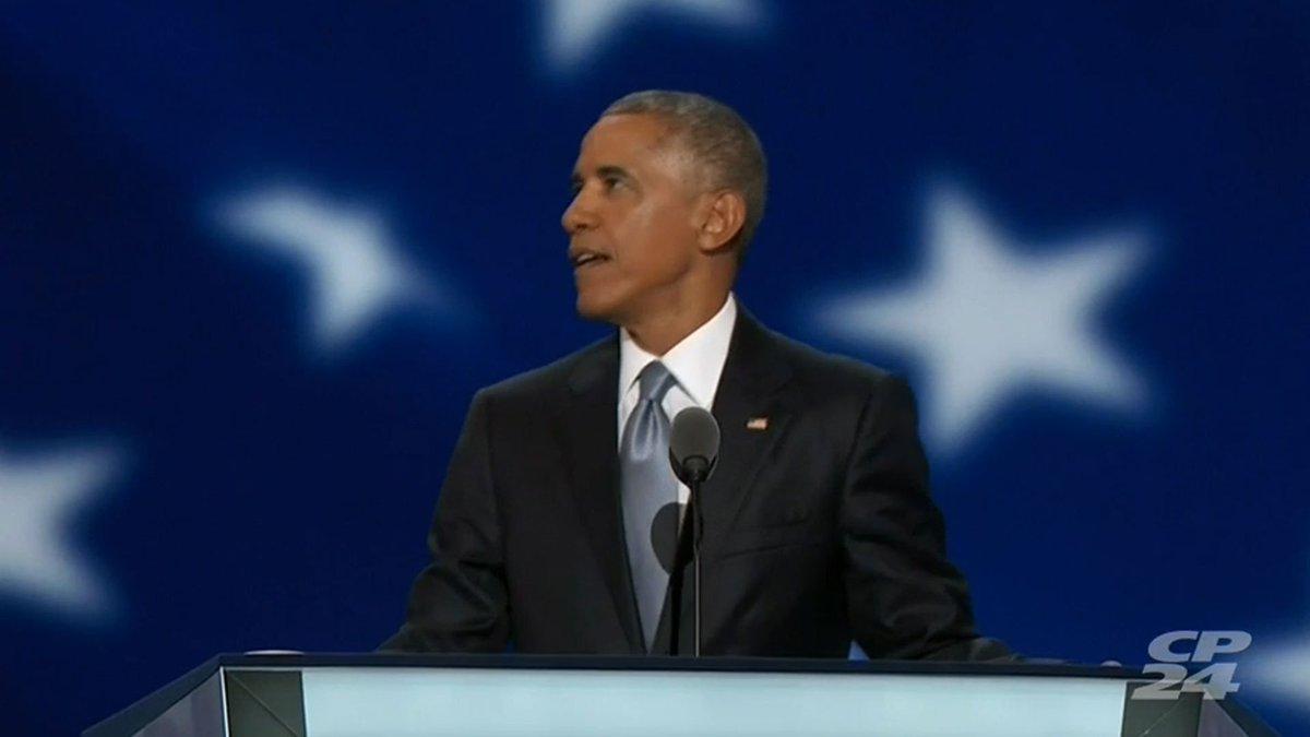 U.S. President Barack Obama addresses Democratic National Convention