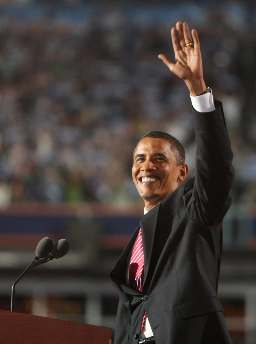 Eight years ago, when @POTUS Obama first won the nomination DemsInPhilly
