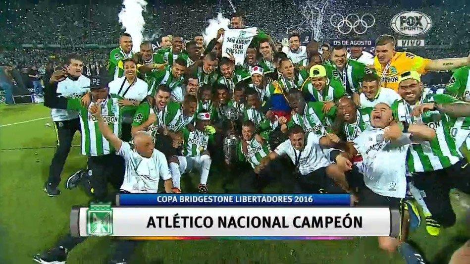 Atletico Nacional (Medellin Colombia) vince la Coppa Libertadores dopo 27 anni
