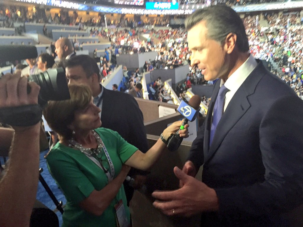 @GavinNewsom believes the nomination of @HillaryClinton is as important for his young sons as his daughters.DNC