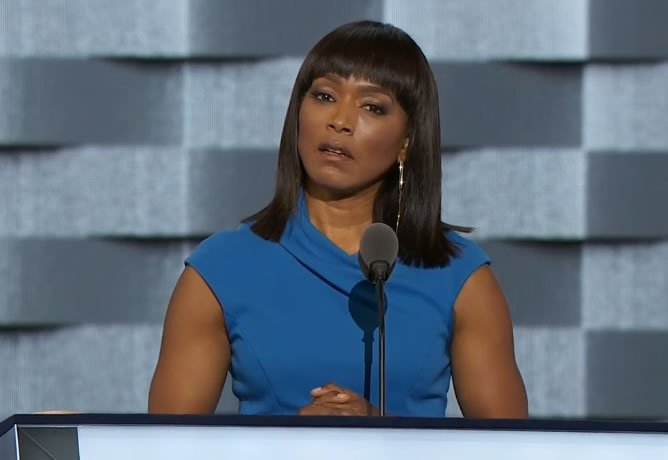 Actress Angela Bassett speaking now at the DNC