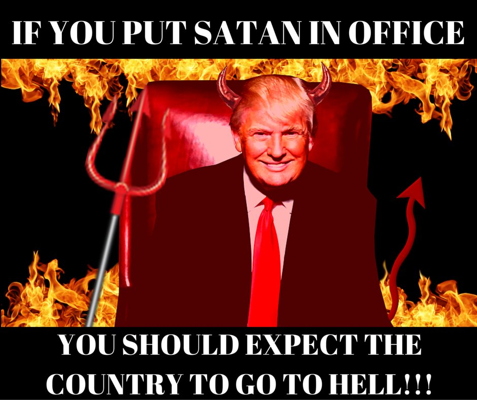 NOT VOTING FOR HILLARY is BASICALLY VOTING FOR TRUMP! And that's a straight ticket to HELL ON EARTH!!! Share this... https://t.co/KdGbpy3X90