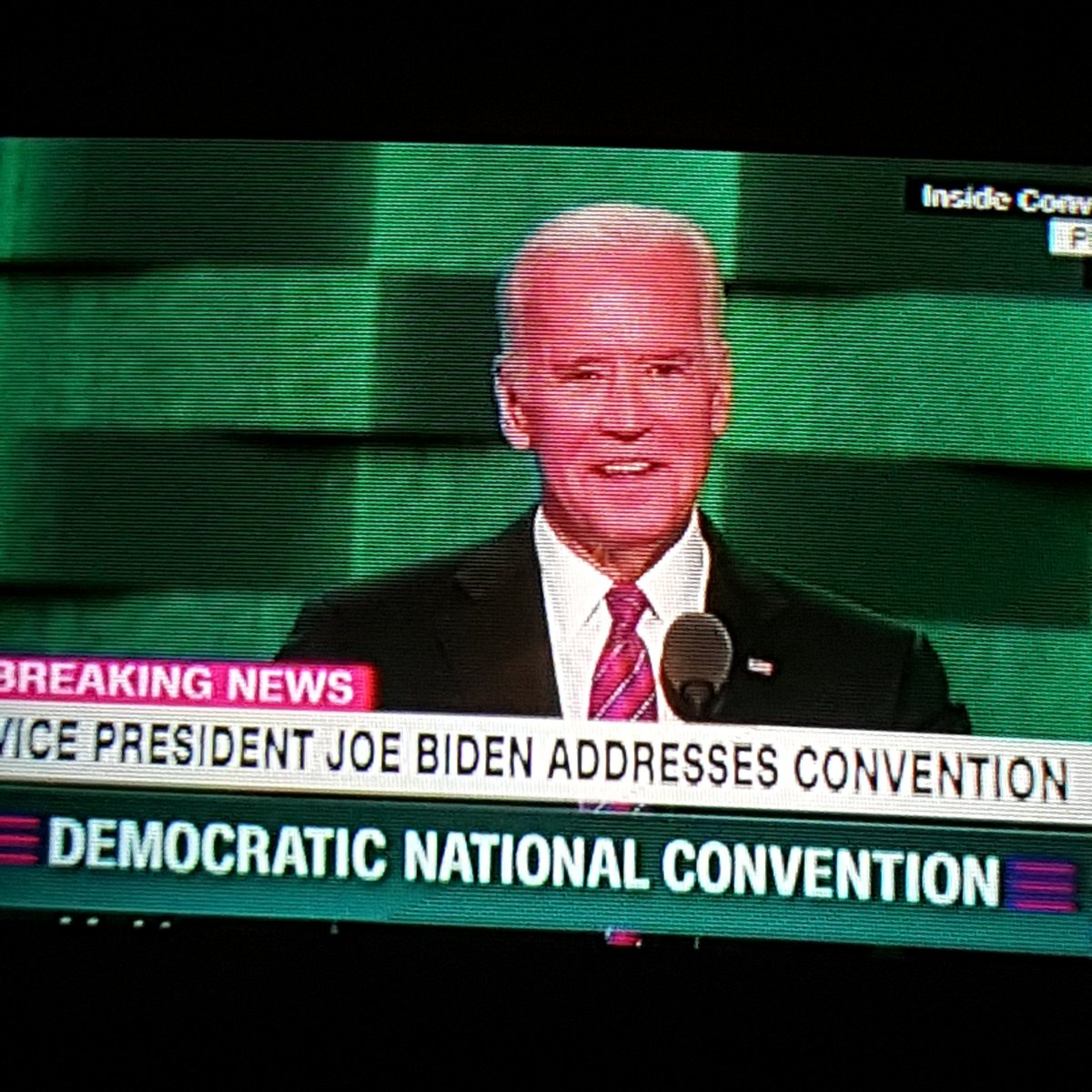 .@VP Joe Biden, AS65, just gave several shouts out to Delaware at the #DNC.   #BlueHensforever https://t.co/DypClYTFmO
