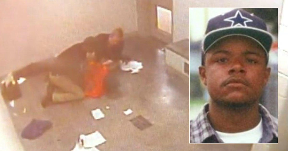 Surveillance video shows Oklahoma jail guards put distressed inmate in fatal chokehold