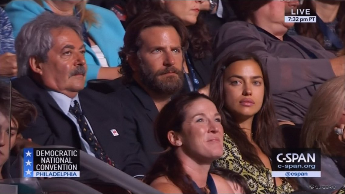 Bradley Cooper was at the DNC -- and some people are not amused