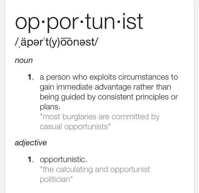 "Apart Definition: Maria Chong On Twitter: """"Opportunist"" & ""opportunity"" Are"
